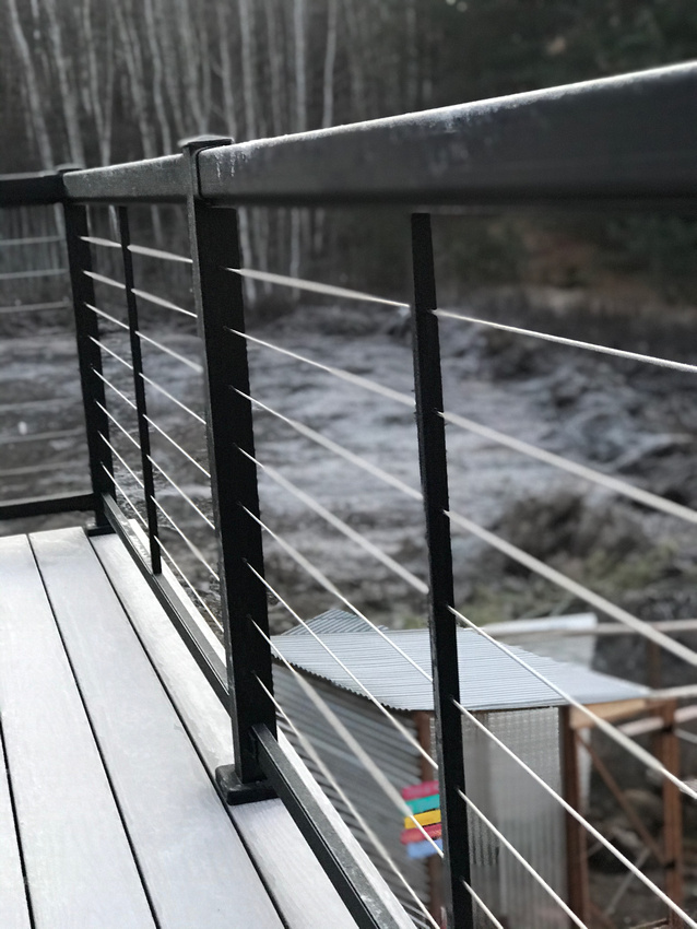 Cable Rail, handrail, outdoor handrail, outdoor cable rail, stainless steel cable rail, deck wire, exterior rail, creative deck rail