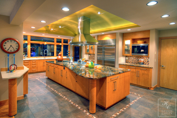 CUSTOM DESIGNED BARREL VAULTED KITCHEN
